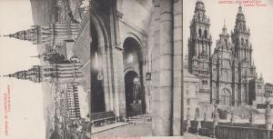 Santiago De Compostela 3x Old Spanish Postcard s