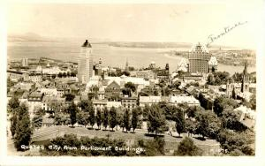Canada - Quebec, Quebec City. City from Parliament Buildings    *RPPC