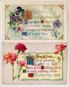 2 - Birthday Cards with Verses
