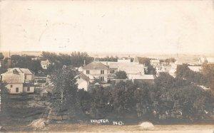 LPS39 Inkster North Dakota Town Aerial View Postcard RPPC