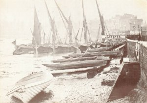 London Postcard, c1860-70 River Thames front by Greaves boat yard 95X