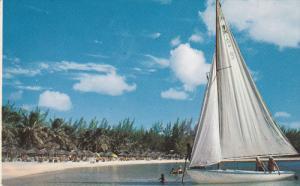 NASSAU in the Bahamas, Boating & bathing Paradise Beach, 40-60s