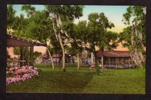 FL Moon Lake Gardens Pasco Ct New Port Richey Florida Postcard Hand-Colored PC