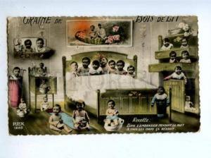 178060 MULTIPLE BABIES on POT Vintage Photo COLLAGE postcard