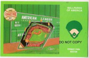 Ballparks of America, Fenway Park, Boston Mass
