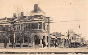 Ashland Nebraska Main Street North Side Real Photo Postcard AA12570