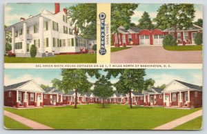 College Park Maryland~Washington DC~Del Haven Roadside US 1 Cottages~Motel~1940s