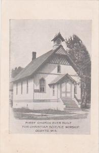 First Church ever built for Christian Science Worship, OCONTO, Wisconsin, 00-10s