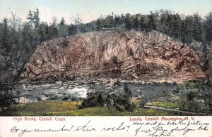 Catskill Creek, Leeds, Catskill Mountains, N.Y.,  Early Postcard, Used in 1907