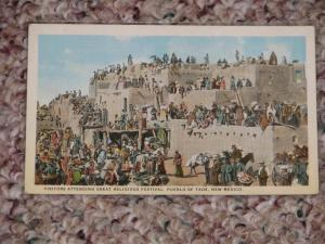 Visitors Attending Great Religious Festival, Pueblo of Taos, New Mexico, Unused