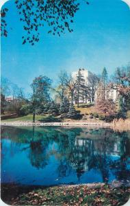 Columbus Ohio State University~Oxley Library Reflected in Mirror Lake 1950s