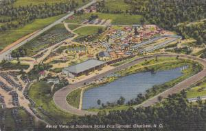 Aerial View of Southern States Fair Ground, Ferris Wheel, Charlotte, North Ca...