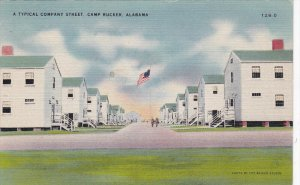 CAMP RUCKER, Alabama; A Typical Company Street, 30-40s