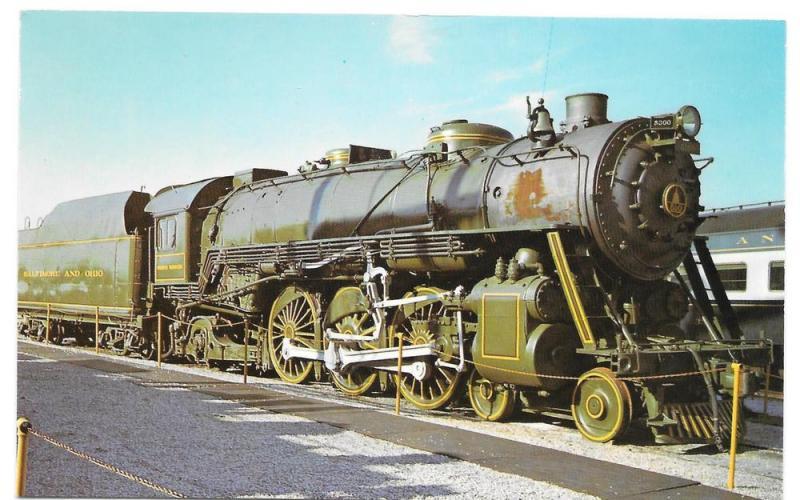 B&O Baltimore Ohio Railroad President Washington Locomotive