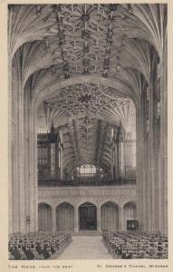 The Nave From The West Windsor Castle Rare Antique Tucks Mint Postcard