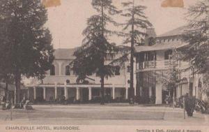 Charleville Hotel Mussoorie India Indian Antique Postcard + 1906 Postmark