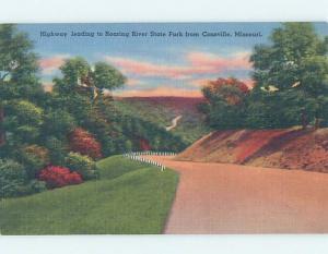 Linen PARK SCENE Cassville - Near Monett & Branson & Neosho Missouri MO H2284