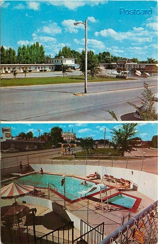 SD, Yankton, South Dakota, Skyline Motel and Dinning Room, Multi View, Pool