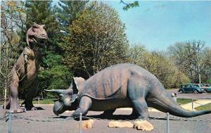 Dinosaurs Museum of Science 1950s Oak Knoll Park St Louis Missouri 7605