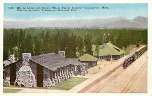WY, Yellowstone National Park, Wyoming, Dining Lodge and Depot,H H T Co No. 4520