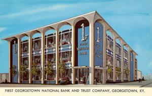 New Home of the First Georgetown National Bank Kentucky~Revolving Doors? 1965 PC