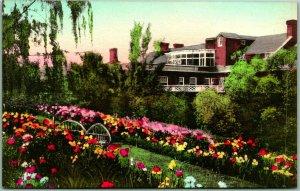 Luray, Virginia Postcard MIMSLYN HOTEL Garden View Hand-Colored Albertype c1930s