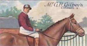 E & W Anstie Vintage Cigarette Card Racing Series No 8 Mr G H Gilbeys Colours...