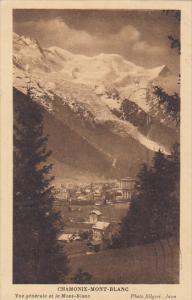 France Chamonix Mont Blanc Vue generale et le Mont Blanc 1931