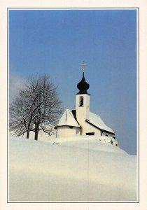 Austria Oostenrijk Vorarlberg Kirche von Gaschurn Church Winter Postcard