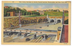 New Jersey Entrance to Lincoln Tunnel between Weehawken & New York City, unused