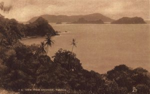 Tobago General view from Speyside Panorama Postcard