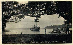 New Zealand Mansion House Bay Kawau Island RPPC 05.16