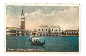 RP, Bacino S. Marco Con Gondola, Venezia (Veneto), Italy, PU-1953