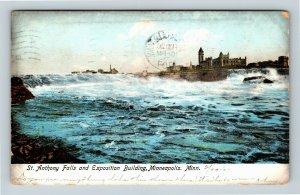 Minneapolis MN, St Anthony Falls, Exposition, Vintage Minnesota c1907 Postcard