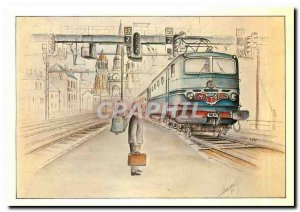 Modern Postcard Dijon City arrival of the Mistral trailer by a CC 7100