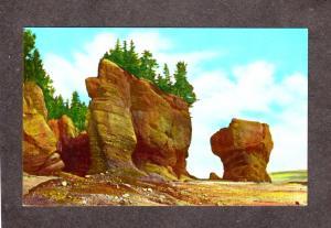 NB Rocks Hopewll Cape Moncton New Brunswick Canada Postcard Carte Postale