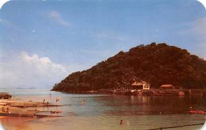 Panama Old Vintage Antique Post Card La Restinga South Sea Island Resort Unused