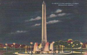 Indiana Indianapolis Obelisk At War Memorial At Night