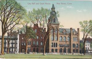 Connecticut New Haven City Hall and Court House 1910