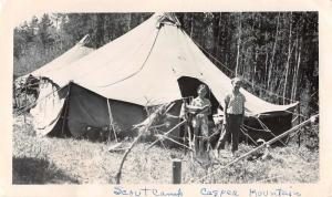 Casper Mountain Wyoming ? Scout Camp Real Photo Antique Non Postcard Back J63459