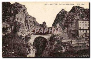 Menton Old Postcard Bridge Saint Louis