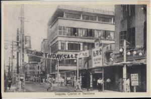 Yokohama Japan - VIEW of the SHOPPING CENTER in the city  1940s