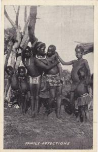 Topless Girls, Zulu Family Affections, South Africa, 1900-1910s