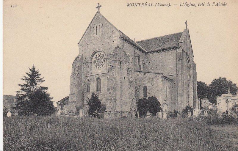MONTREAL (Yonne), France, 1900-1910's; L'eglise, cote de l'abside