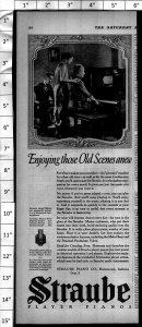 1924 Straube Player Piano Vintage Print Ad 3999