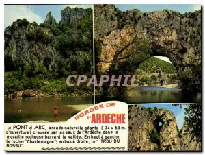 Modern Postcard Gorges of Ardeche The Rock Charlemagne