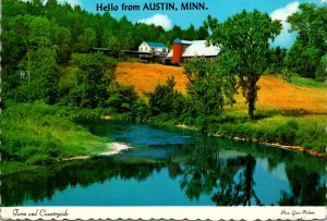 Minnesota Austin Hello Showing Farm and Countryside
