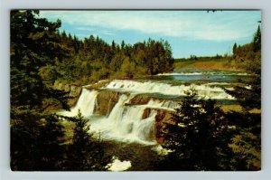 Lepreau NS- Nova Scotia, Lepreau Falls, Scenic Waterfall, Chrome Postcard