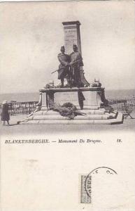 Belgium Blankenberge Monument de Bruyne