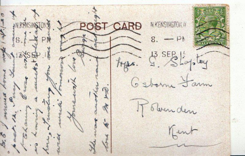 Genealogy Postcard - Shapley - Osborne Farm - Rolvenden - Kent - Ref 4905A